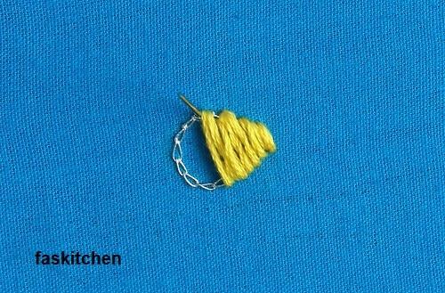 working on the satin stitch