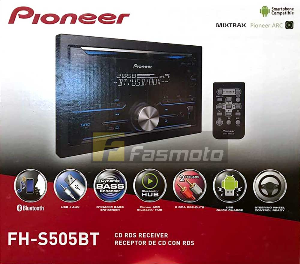 Pioneer FH-S505BT Double DIN Bluetooth Spotify CD USB Aux-in