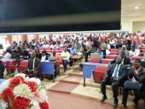 La salle était comblé d'étudiant et de personnalités du secteur des TIC