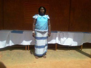 La présidente du Comité national des femmes aveugles et malvoyantes, Mme Marie Claude Forgo