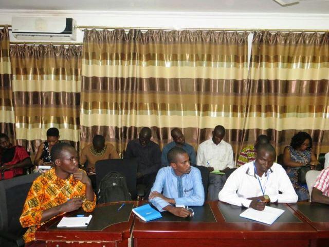 Les participants à cette conférence de presse