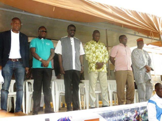 Les officiels à cette première édition du grand prix « Aujourd'hui au Faso»