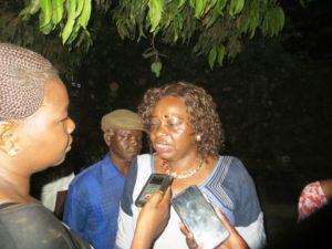 La marraine de la soirée madame Cécile Sirima, fondatrice du journal Faso Amazone