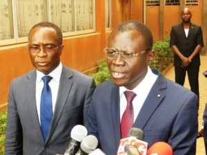 ministre en charge de la justice, des droits humains et de la promotion civique, garde des sceaux monsieur René Bagoro