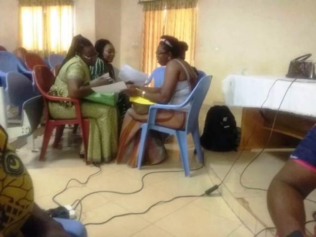 Les travaux ce sont déroulés en 7 groupes  de 4 participants et participantes autour des 7 axes stratégiques de la politique nationale genre (PNG)