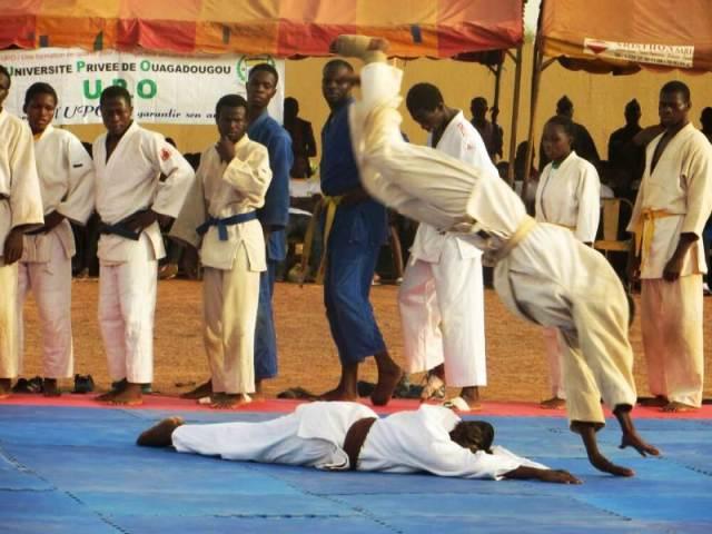 Démonstration d'arts martiaux