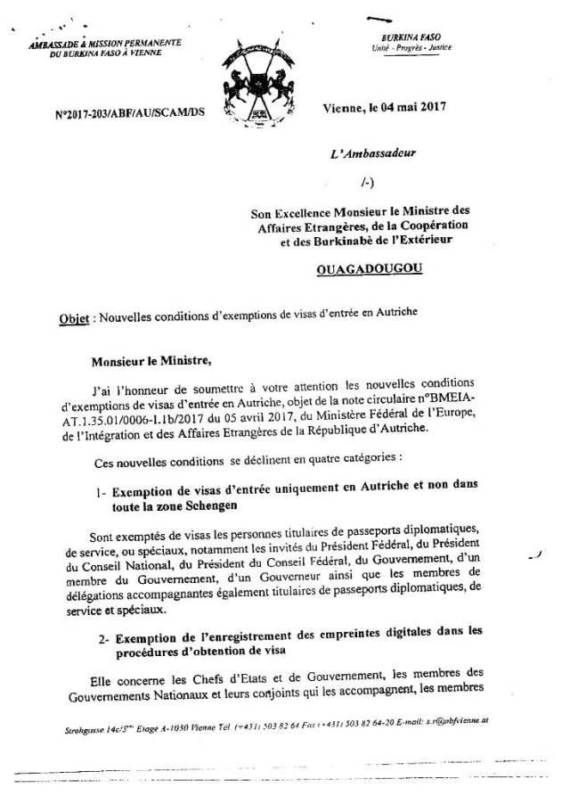 Nouvelles conditions d'exemptions de visas d'entrée en Autriche-1