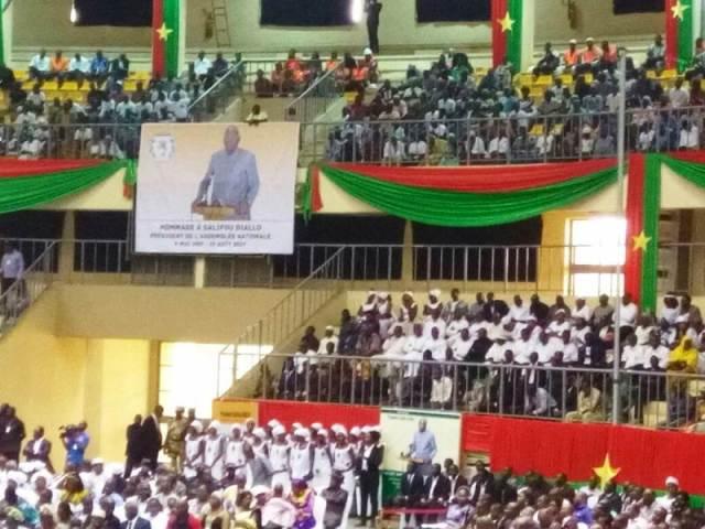 Le Palais des sports de Ouaga 2000 était plein pour rendre un hommage mérité au docteur Salifou Diallo