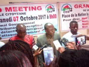 Le Coordonnateur du CED Pascal Zaida et ses camarades se sont prêtés aux questions des journalistes.
