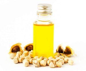 Flacon d'huile de Moringa a partir de la graine