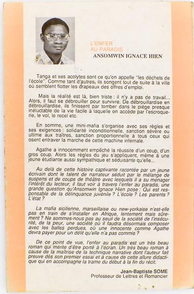 Ignace Assonwin HIEN auteur du livre L'Enfer au Paradis.