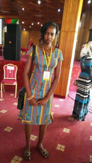 Mlle Kadidia CISSE participante de la région du Sahel(Dori).