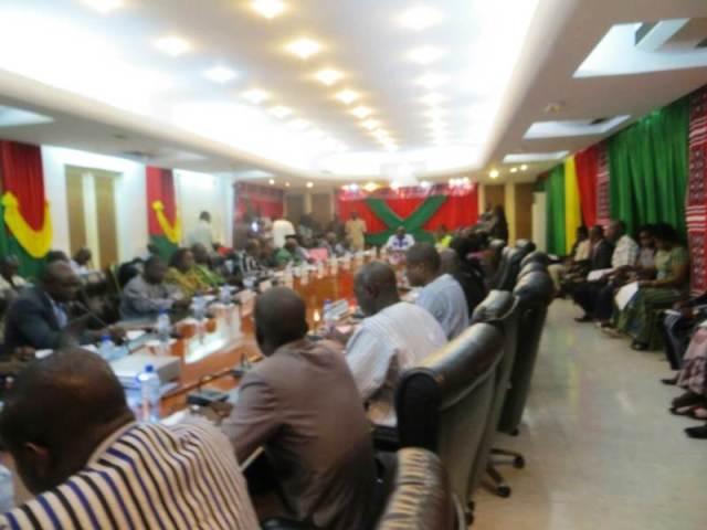 Les participants à cette session