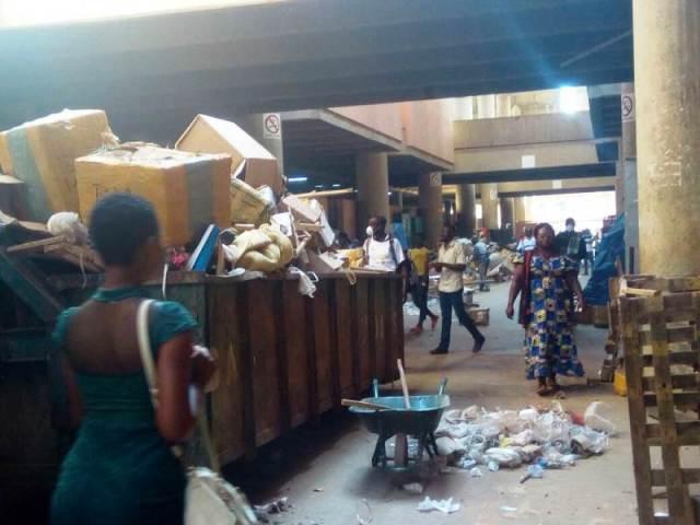 Salubrité du grand marché de Ouagadougou.