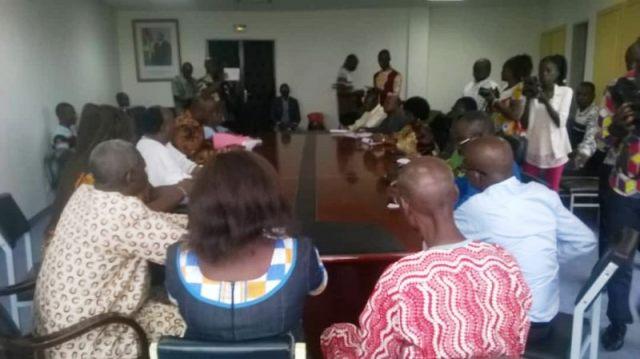 Le comité d'organisation lors de cette rencontre