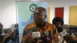 Rémis Fulgance Dandjinou, Ministre de la Communication et des relations avec le Parlement.