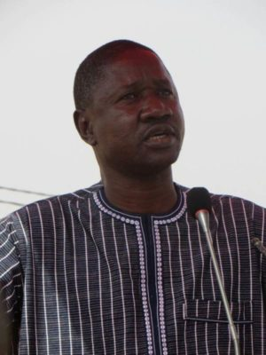 Le Ministre de l'enseignement supérieur de la recherche scientifique et de l'innovation, Alkassoum Maiga
