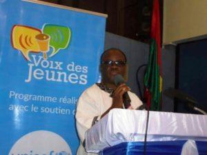 M. Adama Coulibaly chef de cabinet, représentant le Ministre de la Communication Remy Fulgence Dandjinou