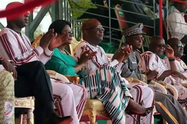 Le Président du Faso SEM Roch Marc Christian Kaboré patron de cette cérémonie du 11 décembre 2017 à Gaoua.