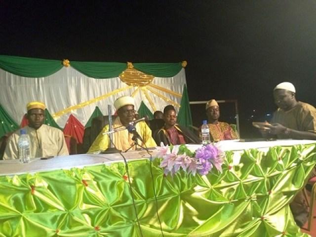 Le présidium à cette célébration du Maouloud.