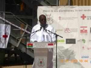 Le Président du Faso SEM Roch Marc Christian Kaboré lors de son discours à Loumbila