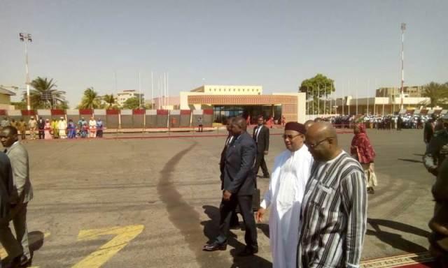 Arrivée du président Mahamoudou Issoufou du niger