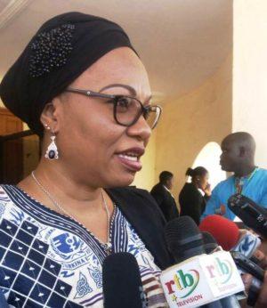 La ministre de la femme, de la solidarité nationale et de la famille Mme Ilboudo/Marshal