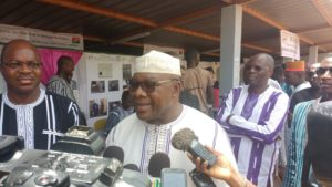 Le Ministre en charge des mines et carrières, Oumarou Idani