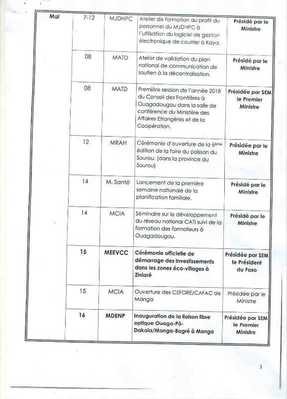 Programme d'activités 2