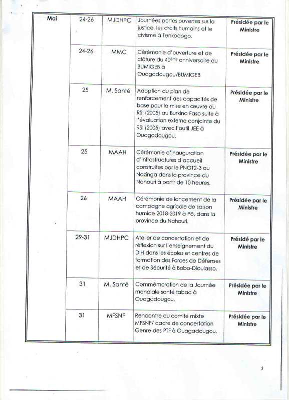 Programme d'activités 4