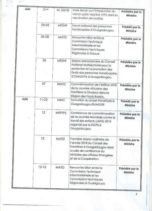 Programme d'activités 5