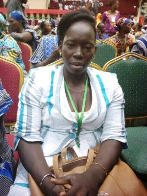 Madame Kaboré, représentante de la région du Centre Ouest