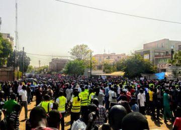 Marche meeting des syndicats  contre l'IUTS 7 mars 2020  à Ouagadougou( photo d'archives).