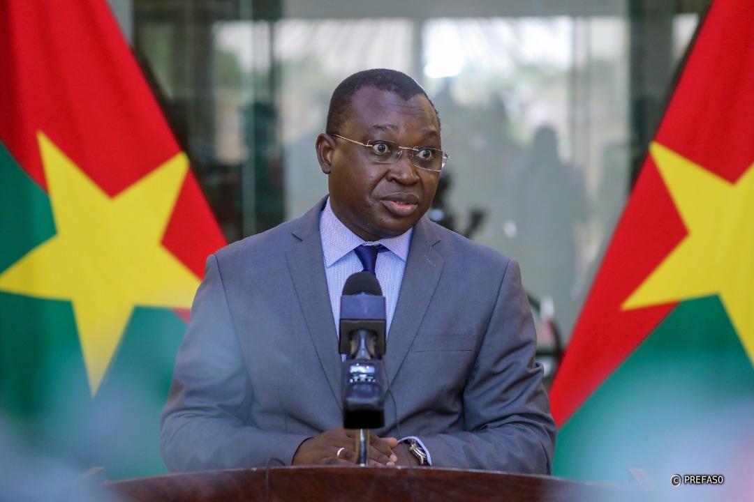 Le ministre de la communication, Porte parole du gouvernement,  monsieur Ousséni TAMBOURA