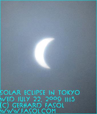 solar eclipse in Tokyo