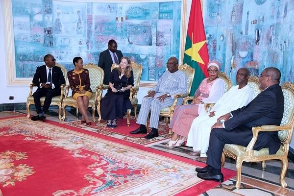 Nutrition-La-princesse-Sarah-Zeid-de-Jordanie-chez-le-président-du-Faso