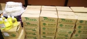 Lutte –contre- la- Covid-19-le –Larlé- naaba- Tigré –apporte- du –matériel- à -l'université- Joseph- Ki- Zerbo