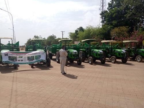 Agriculture -des –producteurs- de -4 –régions- dotés- en -tracteurs