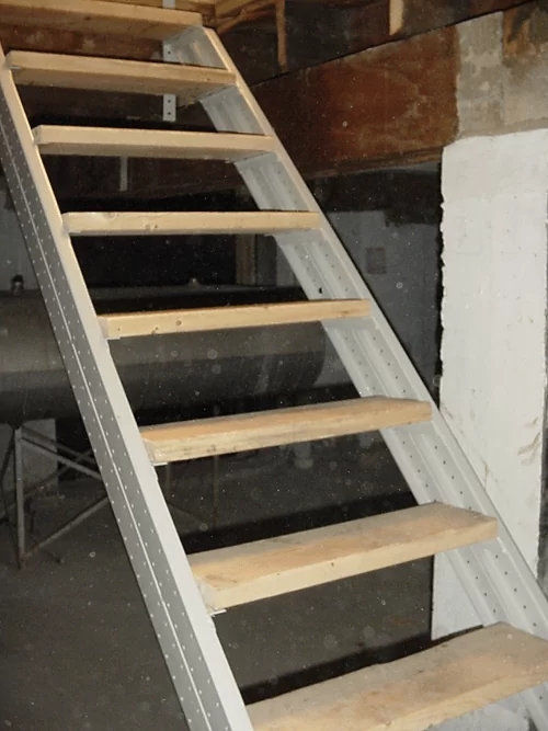 Basement Stair Stringers By Fast Stairs Com | Outside Stairs To Basement | Walkout | Too Steep | Residential | Both Side | Side Entrance