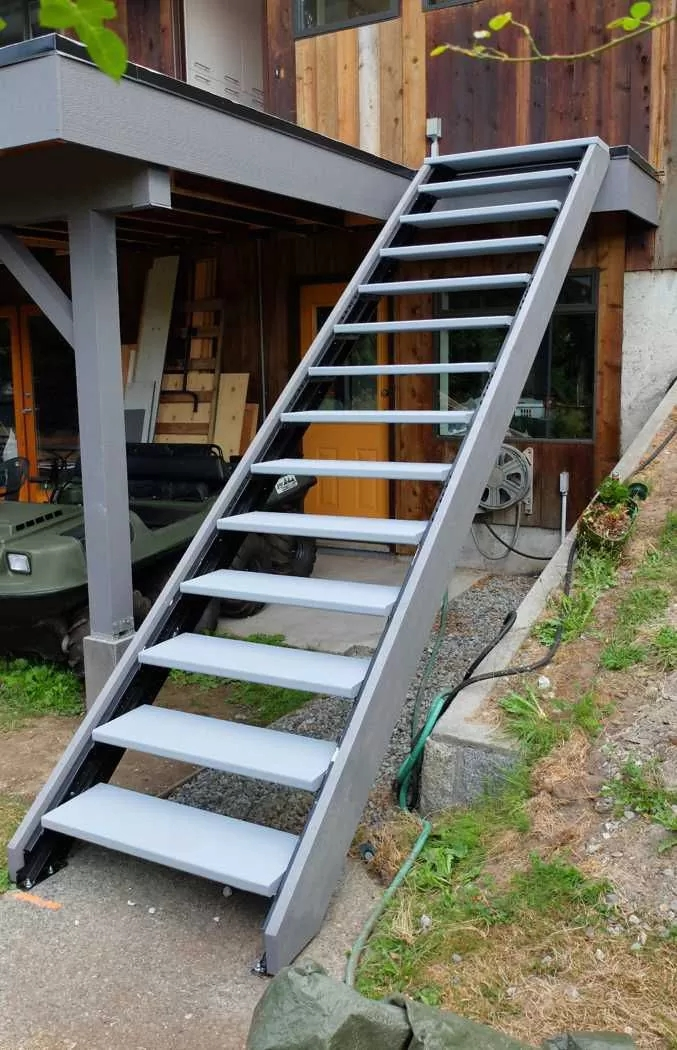 Outdoor Stair Stringers By Fast Stairs Com | Prefabricated Exterior Metal Stairs | Stair Case | Spiral Staircases | Stairways | Stair Systems | Wrought Iron