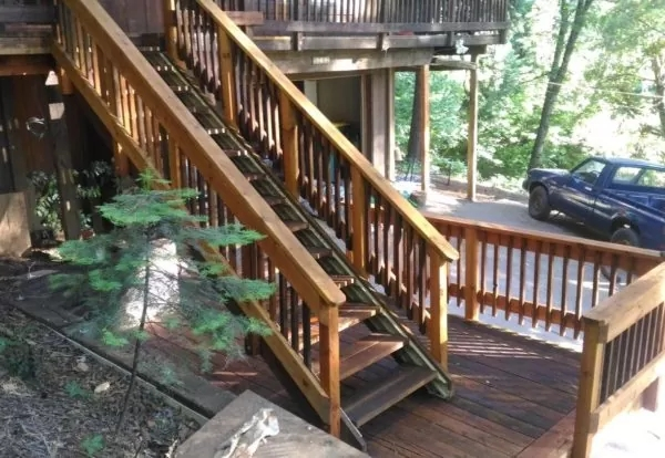 Deck Stair Stringers By Fast Stairs Com Adjustable Easy To Install | Outdoor Deck Stair Treads | Composite Deck | Stringer | Pressure Treated Wood | Stair Stringer | Metal