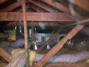 Attic furnace installation