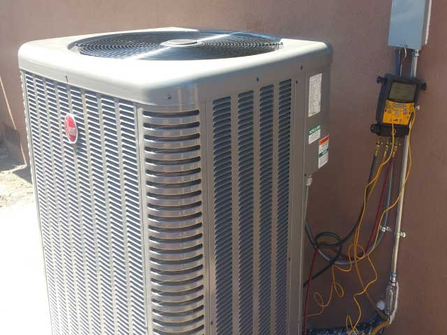 Condenser installation for Veronica and Jessica in Whittier CA