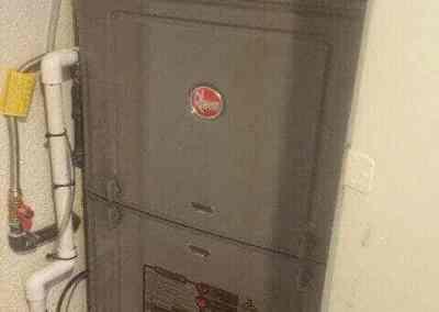 New Rheem Furnace closet installation