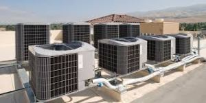 Commerial Air Conditioning Units On Roof Top