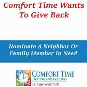 Comfort Time Giving Back