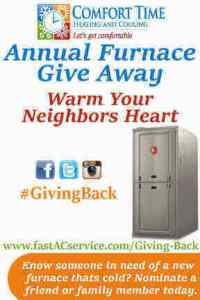 Warm your neighbors heart by nominating them for free furnace