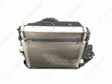 Left pack of radiators and fan