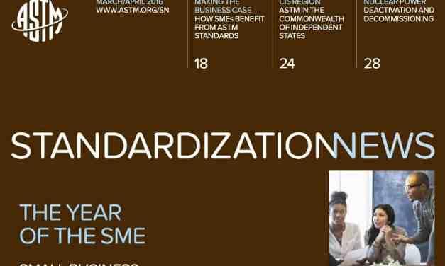 ASTM International's Standardization News, March/April 2016