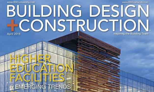 Building Design + Construction, April 2016